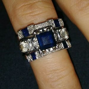 3 piece wedding ring set